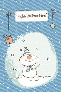 93547722 iStockphoto-TS snowman christmas card
